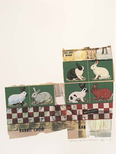 Rabbit Chow, From Chow Bags by Robert Rauschenberg at