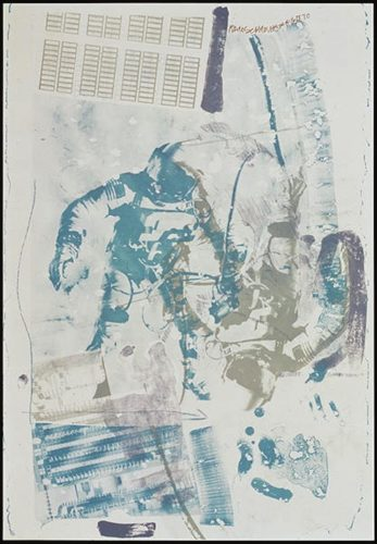 White Walk (from Stoned Moon Series) by Robert Rauschenberg