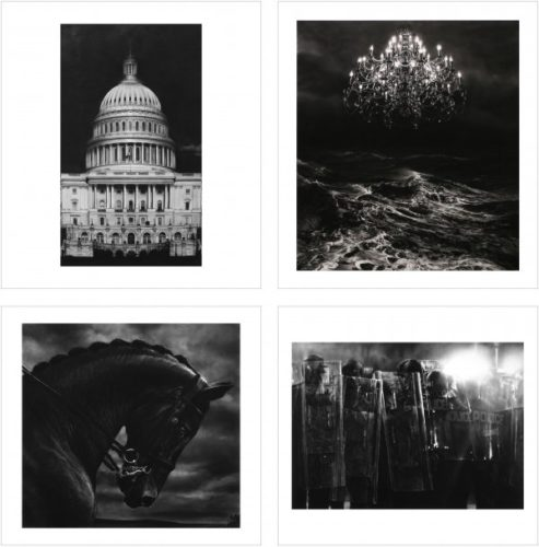 Charcoal Portfolio (4 Prints) by Robert Longo