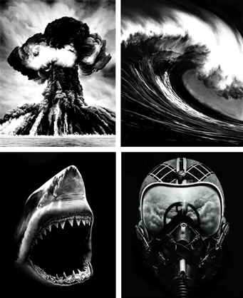 Suite Of (4) Russian Bomb, Spanish Blood, Shark 5, Ulysses by Robert Longo at