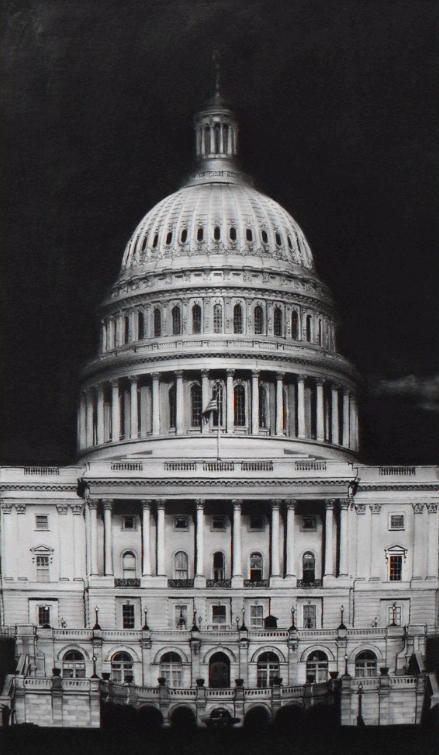 Untitled (capitol Detail) by Robert Longo