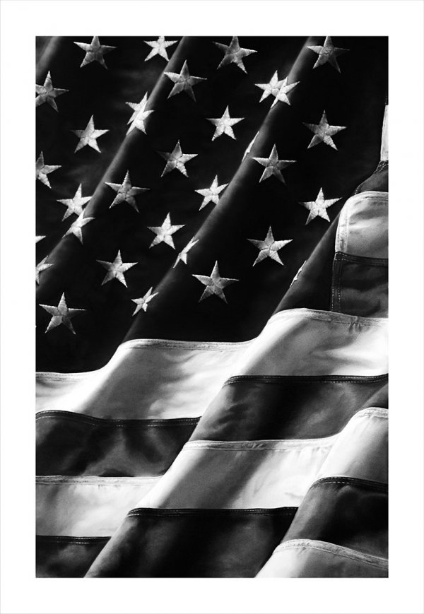 Untitled (flag) by Robert Longo