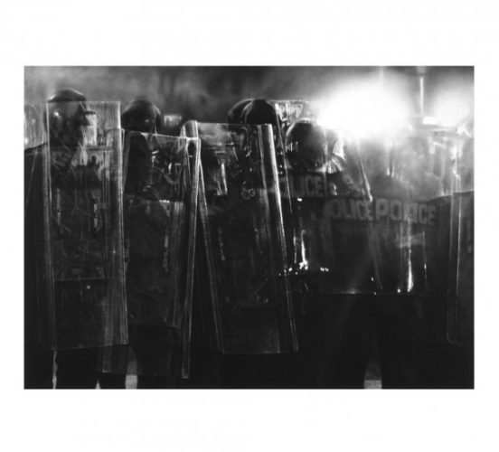 Untitled (riot Cops) by Robert Longo
