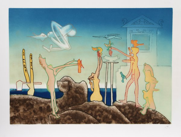 12am From L'arc Obscur Des Heures by Roberto Matta