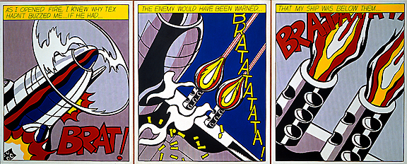 As I Open Fire by Roy Lichtenstein at