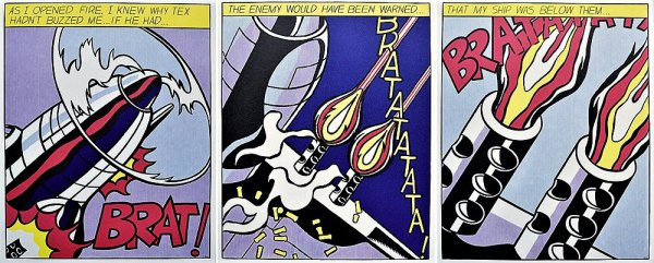 As I Opened Fire ( Triptych ) by Roy Lichtenstein
