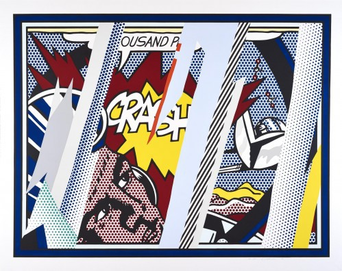 Reflections On Crash, From The Reflections Series by Roy Lichtenstein