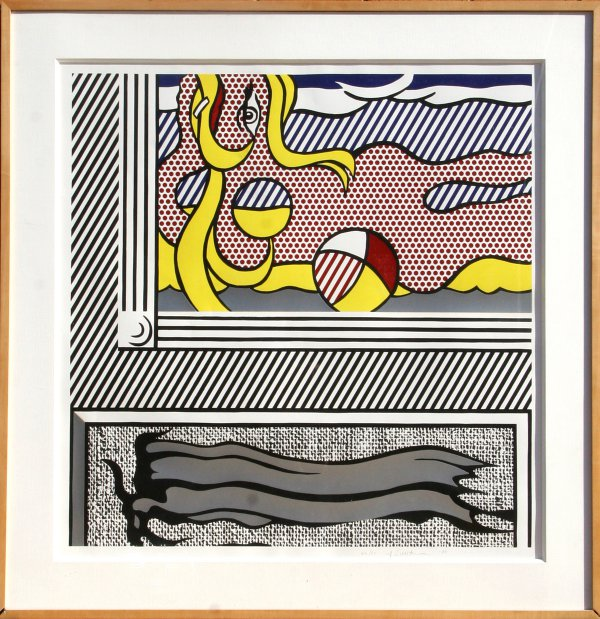 Two Paintings: Beach Ball by Roy Lichtenstein