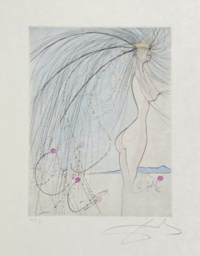 Diane De Poitiers. 1971. by Salvador Dali at William Weston Gallery (IFPDA)