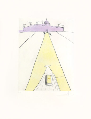 Dieu, Le Temps, L'espace Et Le Pape. (God, Time, Space And The Pope.) by Salvador Dali