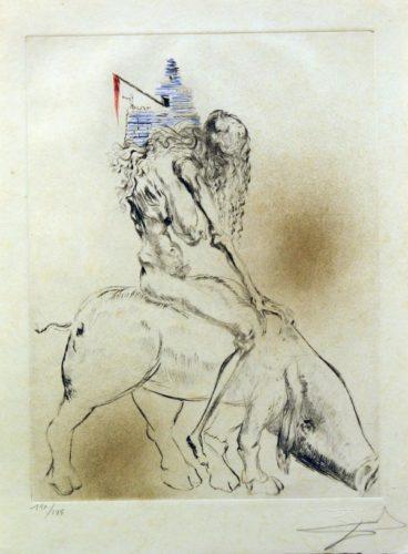Femme Au Cochon Baubo, Faust by Salvador Dali at