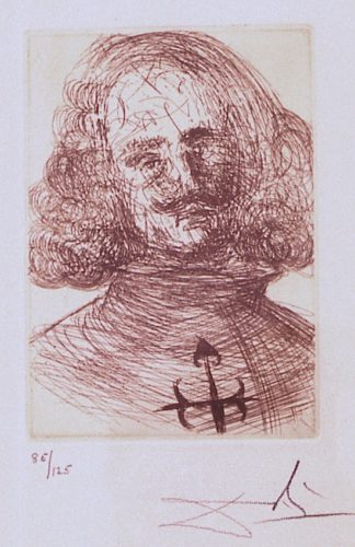 Velazquez From Five Spanish Immortals by Salvador Dali