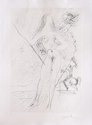 Venus De Las Constellaciones With Picador by Salvador Dali