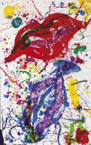 Untitled (sf-329) by Sam Francis