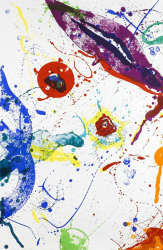Untitled (sf-330) by Sam Francis