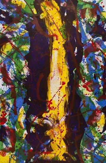 Untitled (sf-343) by Sam Francis