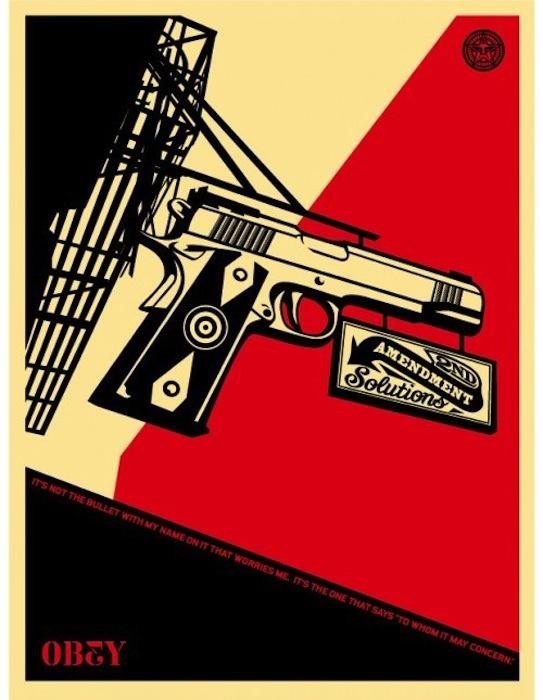 2nd Amendment Solutions by Shepard Fairey