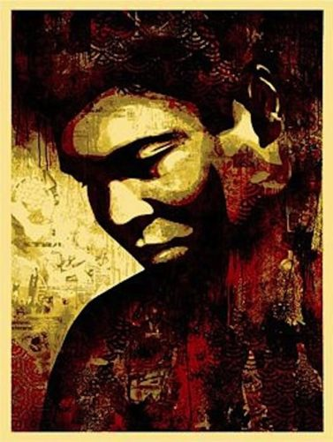 Ali Canvas by Shepard Fairey