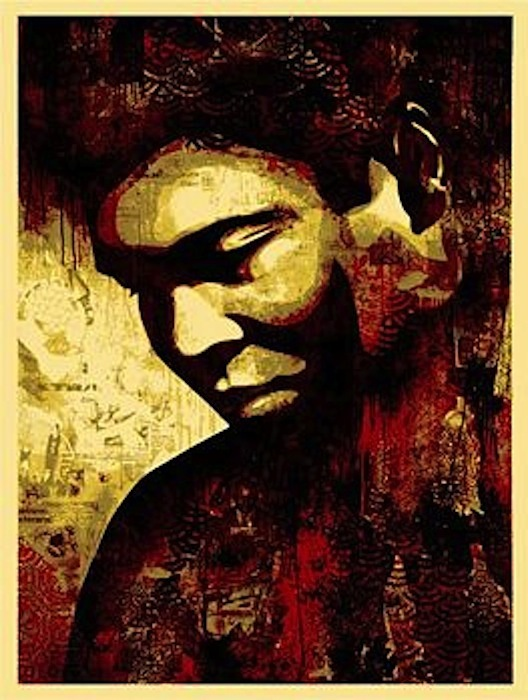 Ali Canvas by Shepard Fairey