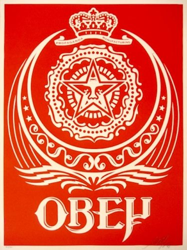 Ankara Red by Shepard Fairey