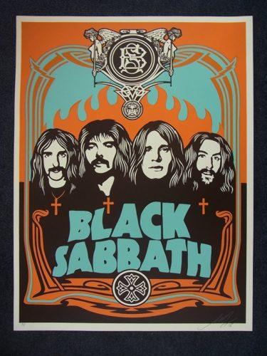 Black Sabbath ( Orange Version) by Shepard Fairey