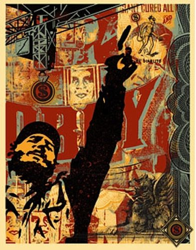 Castro Collage by Shepard Fairey