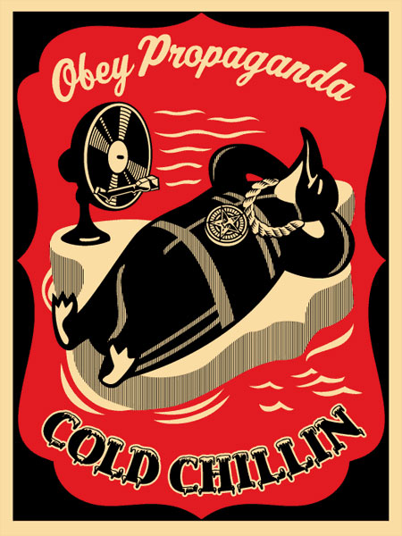 Cold Chillin Red by Shepard Fairey