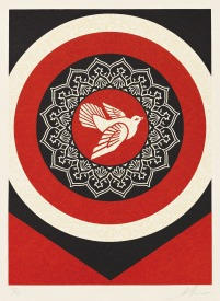Dove Target Red by Shepard Fairey