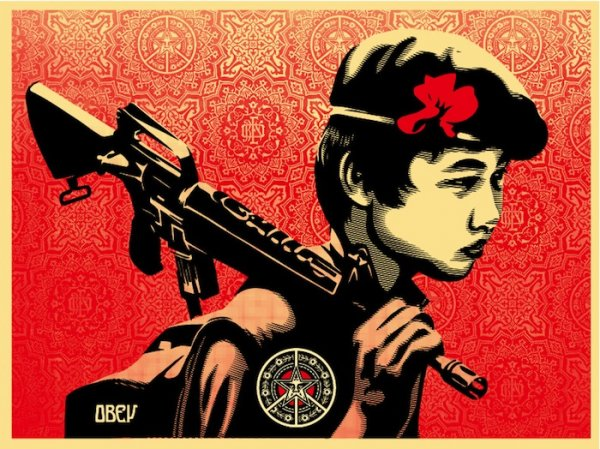 Duality Of Humanity 2 by Shepard Fairey