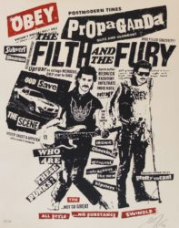 Filth And The Fury by Shepard Fairey at Gallery TEN