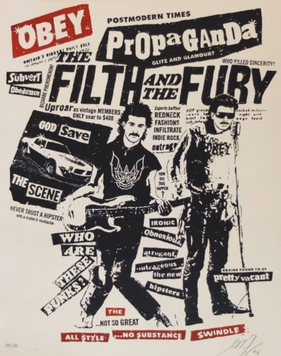 Filth And The Fury by Shepard Fairey at
