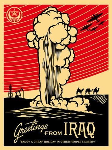 Greetings From Iraq by Shepard Fairey