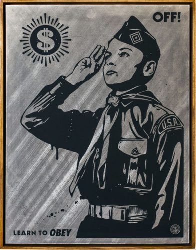 Learn To Obey by Shepard Fairey at Taglialatella Galleries