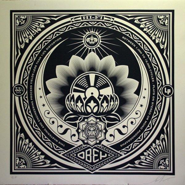 Lotus Album Large Format by Shepard Fairey
