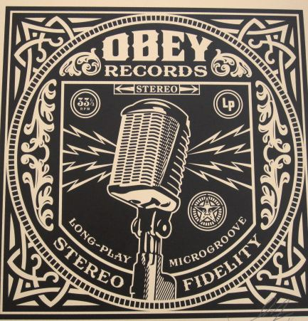 Microphone Megaphone by Shepard Fairey at Shepard Fairey