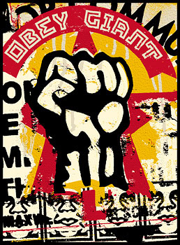 Mission Fist by Shepard Fairey