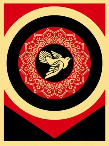 Obey Dove Black by Shepard Fairey