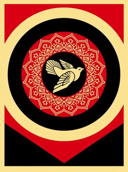 Obey Dove Black by Shepard Fairey