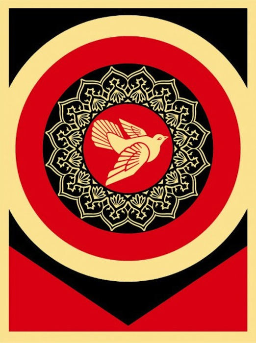 Obey Dove Red by Shepard Fairey