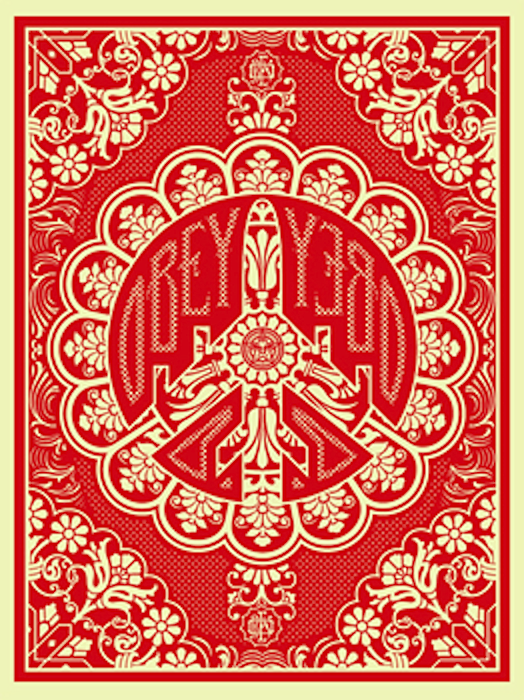 Peace Bomber Red by Shepard Fairey