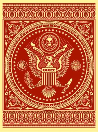 Presidential Seal Red by Shepard Fairey