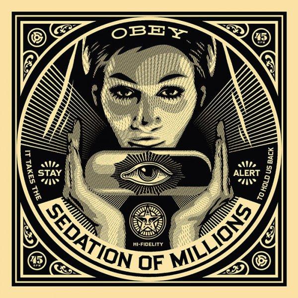 Sedation Of Millions: 50 Shades Of Black Portfolio by Shepard Fairey