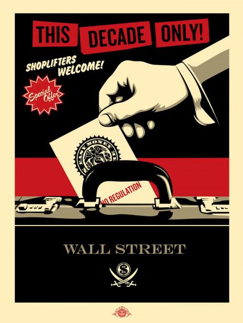 Shoplifters Welcome by Shepard Fairey