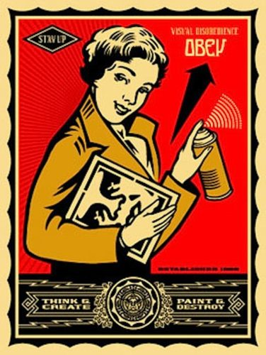 Stay Up Girl by Shepard Fairey