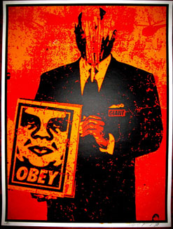 Suit Red by Shepard Fairey