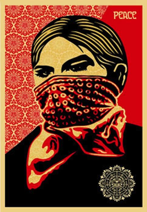 Zapatista Woman by Shepard Fairey