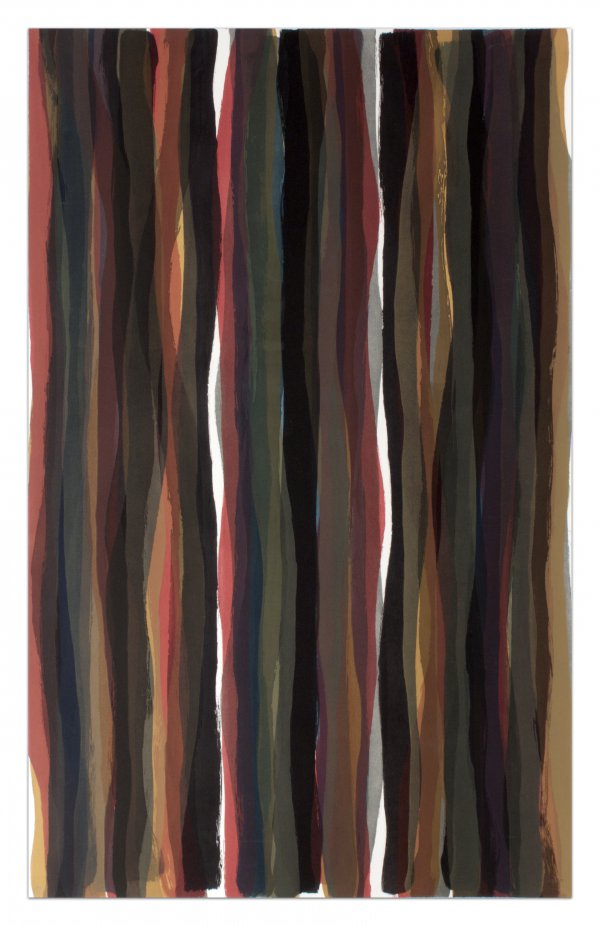 Brushstrokes In Different Colors In Two Directions by Sol LeWitt