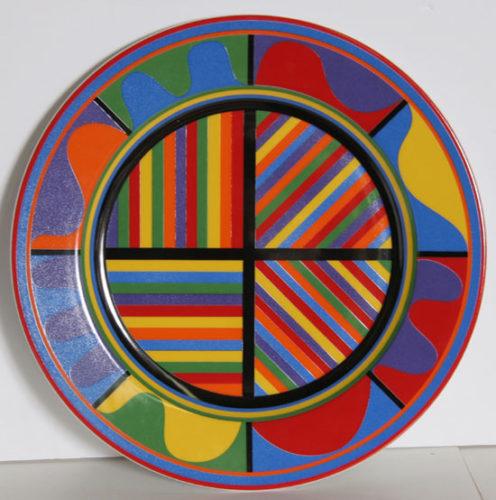 Ceramic Plate by Sol LeWitt