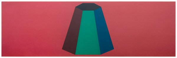 Flat Top Pyramid With Colors Superimposed by Sol LeWitt