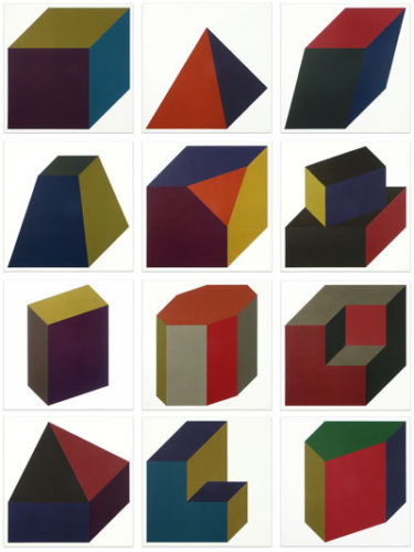 Forms Derived From A Cube (colors Superimposed) by Sol LeWitt